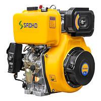 Двигатель дизельный Садко DE-440E  (12,0 л.с., шпонка Ø25мм, L=72мм, электростарт) + доставка