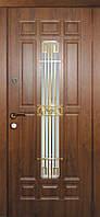 Двери входные металлические Астория со стеклом и ковкой серия Премиум 100