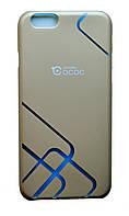 Чехол-накладка Cococ приятный Пластик прозрачные Линии углы для Apple iPhone 6/6s Gray