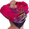 Яркий женский шарф из хлопка 182 на 86 см  ETERNO (ЭТЕРНО) ES0908-4-2 красный