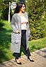 Х8004/1 Пальто кашемир+мех батал в расцветках, фото 2