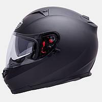Мотошлем MT Blade SV Solid Black Matt с очками.