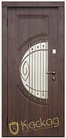 Двери входные металлические Адамант со стеклом и ковкой серия Премиум 100