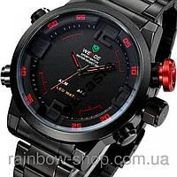 Стильные кварцевые мужские наручные часы WEIDE