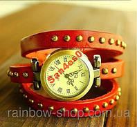 Женские часы браслет кожа. .Красиво смотрятся на руке.