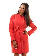 Женское пальто кашемировое 7059   р.S.M.L -красное