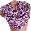 Сдержанный женский шарф из хлопка 182 на 86 см  ETERNO (ЭТЕРНО) ES0908-10-1 фиолетовый