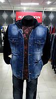 Куртка джинсовая с синими рукавами унисекс (S-XXL)