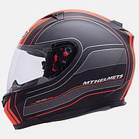 Мотошлем MT Blade SV Raceline Orange с очками.