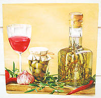 Салфетка для декупажа Оливковое масло 33*33 см, 1 шт
