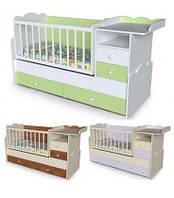 Кровать трансформер для детей 4 в 1 Лилия от 0 до 15 лет