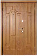 Двери входные металлические полуторные модель 110  серия Премиум 100