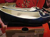 Туфли балетки женские синие лаковые 39 р очень красивые и удобные