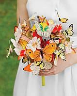 Свадебный букет из искусственных бабочек