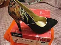 Туфли женские новые классика 38р с принтом вышивка