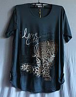 Туника  женская Леопард Серый