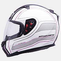 Мотошлем MT Blade SV Raceline Pink с очками.