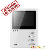 Бюджетный видеодомофон Arny AVD-410 (white, black) с компактным дизайном
