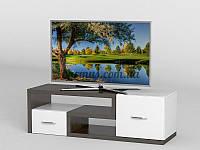 Современная ТВ- тумба АКМ-257 Венге магия + Белый