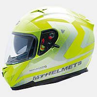 Мотошлем MT Blade SV Reflexion Yellow с очками.