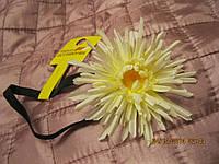Обруч цветок белый резинка обруч заколка