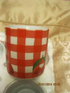 Чашка кавова кружка червона з білим БРИТАНІЯ набір=4 чашки