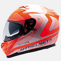 Мотошлем MT Blade SV Reflexion Orange с очками.
