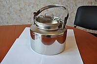 Бидон 5 литров, нержавеющая сталь, пищевой.