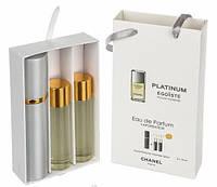 Мужской мини-парфюм Chanel Egoiste Platinum (Шанель Эгоист Платинум), 3*15 мл