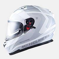 Мотошлем MT Blade SV Reflexion White с очками.