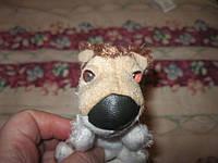 Игрушка мягкая Собака пес коллекционная маленький кожаный носик