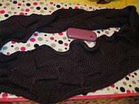 ШАРФ хомут КРАСИВЫЙ ТЕПЛЫЙ СТИЛЬНЫЙ фиолетовый шик, фото 1