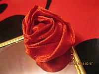 Брошь брошка шпилька заколка роза красная шикарная