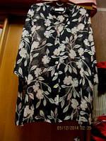Туника блуза блузка длинная XL 52 18 легкая шик
