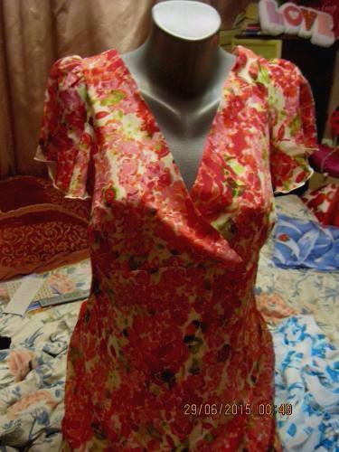 Женское летнее платье 46 12 M САРАФАН цветное