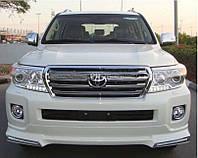 Накладка на передний и задний бампер Toyota Land Cruiser 200