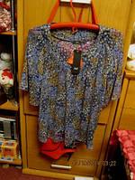 Блузка новая яркая 50 16 L легкая летняя