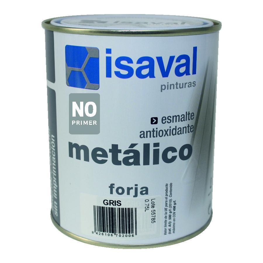 Форха Изалнокс - противокоррозионная грунт-эмаль с эффектом ковки, 0,75л серая (серебристая)