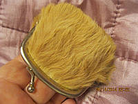 Кошелек клатч  старый английский мех натуральный мини кошелек
