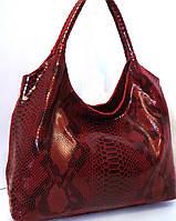 Красная сумка из натуральной кожи  Farfalla Rosso