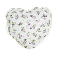 """Подушка Серце  """"lilac Rose""""с кружевом"""