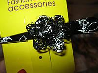 Шпилька уточка заколка длинная черно-белая цветок металл
