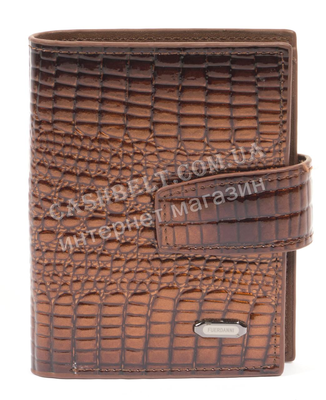Стильная прочная визитница FUERDANNI art. 1031-1 коричневая