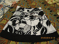 Юбка хлопок черно-белая летняя 44 10 S