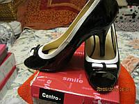 Туфли босоножки черно-белые 38.5р ШИК!!