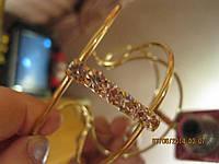 Браслет женский под золото камни шикарный на любой размер