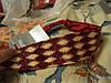 Пов'язка обруч шпилька підшкіру ромбики бордоваяпр-во ФРАНЦІЯ, фото 3