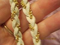 Косичка повязка обруч заколка новая белая золото