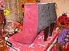 Ботильоны сапоги ботинки полусапожки,41р демисезонные весна-осень БОРДОВЫЕ с черным как замша