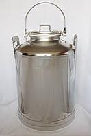 Бидон 30 литров с краном (фляга для вина, спирта, воды, самогон)